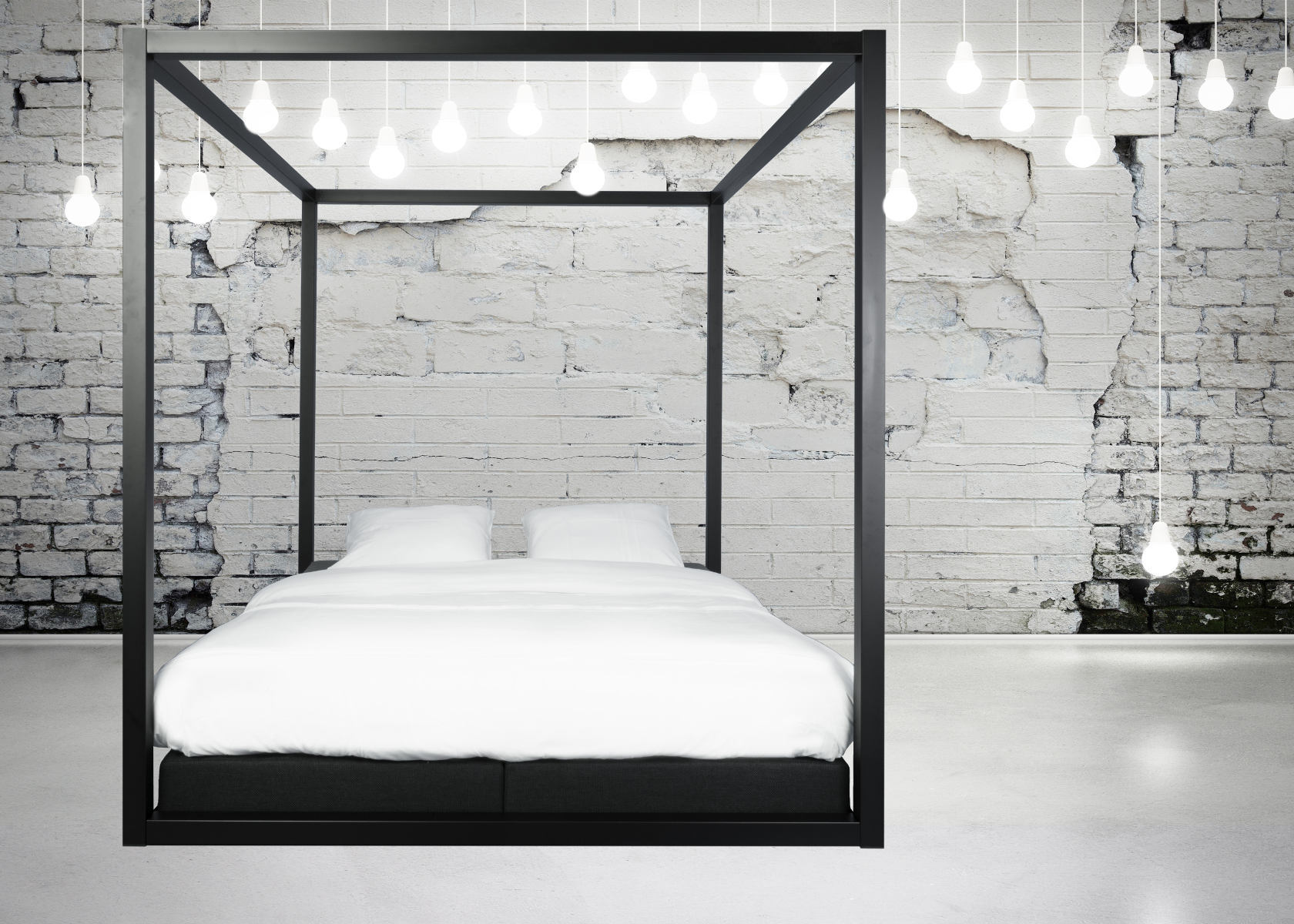 metalen bed the loft design hemelbed droombedden. Black Bedroom Furniture Sets. Home Design Ideas